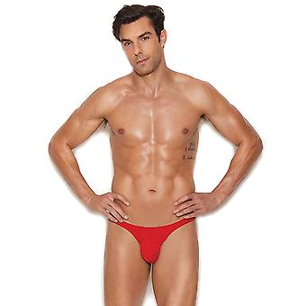 Mens Red Micro Mini Pouch Thong Underwear