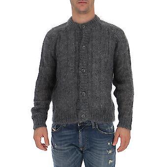 Prada Umc1261uz0f0480 Männer's grau Wolle Pullover