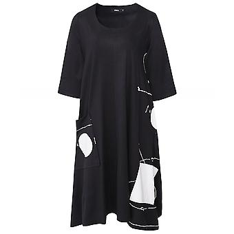 Ralston Tatsu Abstract Print Dress