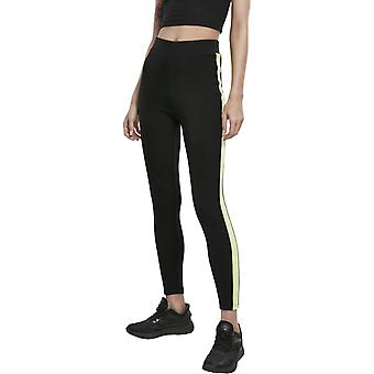 Urban Classics Ladies - NEON SIDE TAPED Legginsy czarne