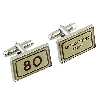 80 Years Cufflinks - Harvey Makin - Gift Boxed - 80th Birthday Approaching Prime