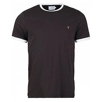 Farah Groves camiseta de ringer de manga curta