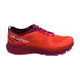 Salomon Womens sonic RA MAX Fabric Low Top Lace Up Running Sneaker