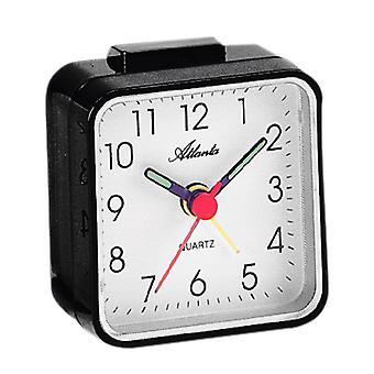 Atlanta 059/7 Alarm clock quartz analog black square