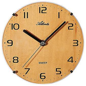 Horloge d'Atlanta 4484/30 Horloge murale à quartz hêtre couleurs silencieux sans tic-tac