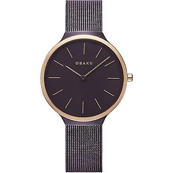 Obaku Ark Lille Walnut Women's Brown Wristwatch V240LXXNMN