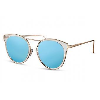 Sonnenbrillen  Damen rund Kat.3 gold/blau (CWI1376)