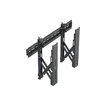 Commercial Series Specialty Menu Board TV Wall Mount Bracket with Push-to-Pop-Out - Max Weight 99lbs Extension Range of 2.4in to 8in VESA Patterns Up to 600x400 Security Brackets by Monoprice