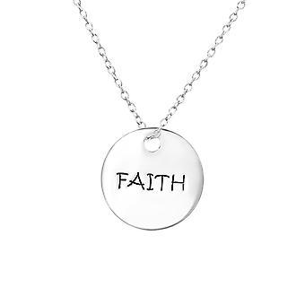 Faith Tag - 925 Sterling Ezüst Sima Nyakláncok - W30099x