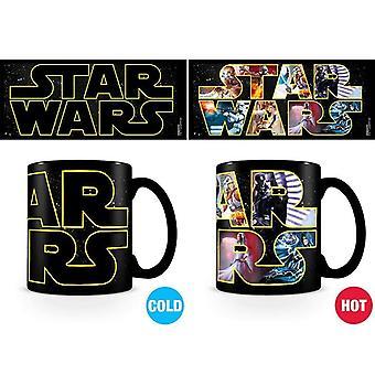 Star Wars Logo Znaki Ciepła Zmiana Kubek