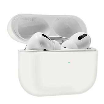 AirPods Pro Silicon Case Soft-touch Matt Effect Qi Wireless Charging- Alb