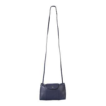 Longchamp 1061757556 Women's Blue Leather Shoulder Bag