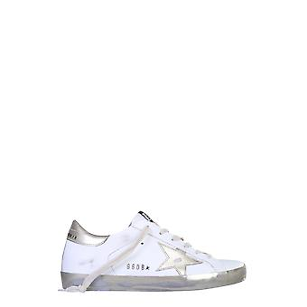 Golden Goose Gwf00101f00031610272 Women's White Leather Sneakers
