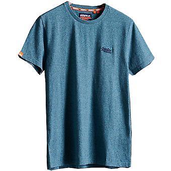 Superdry hombres naranja etiqueta Vintage bordado camiseta