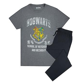 Harry Potter película Hogwarts Crest Hombres's Pyjama Camiseta & Lounge Sweatpants Set
