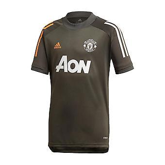 2020-2021 Man Utd Adidas Training Shirt (Verde) - Copii