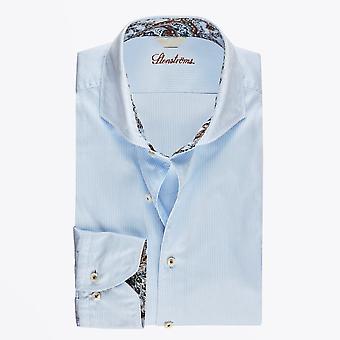 Stenstroms  - Cotton Pinstriped Shirt - Blue/White
