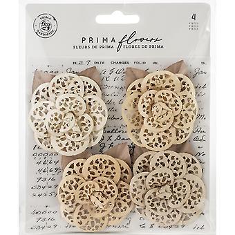 Prima Marketing Pretty Pale Flowers Organic Elegance