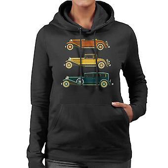 Lørdag kveld post klassiske biler kvinner's hette sweatshirt