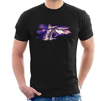 Freddie Mercury Of Queen Its A Hard Life Shoot 1984 Purple Flare Men's T-Shirt