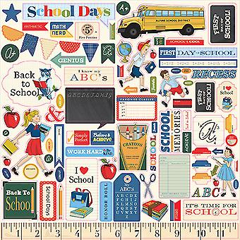 Carta Bella School Days 12x12 Inch Element Sticker