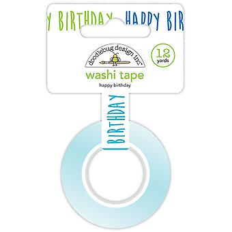 Doodlebug Design Happy Birthday Washi Tape