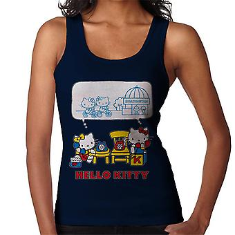 Hello Kitty And Mimmy Soda Fountain Chat Women's Vest