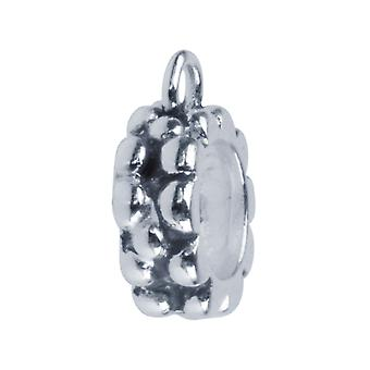 Sterling Argento Ossidato Bumps con Loop Charm Bead
