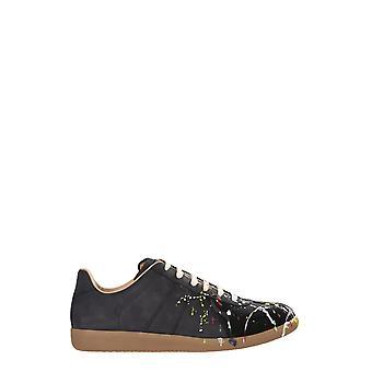 Maison Margiela S57ws0240p1892963 Mænd's Sorte Læder Sneakers