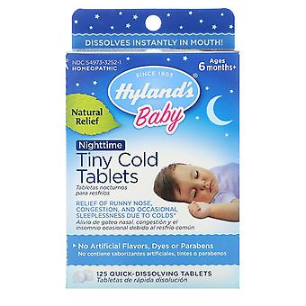 Hyland's, Baby, Nighttime Tiny Cold Tablets, Ages 6 months+, 125 Quick-Dissolvin