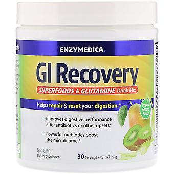 Enzymedica, GI Recovery Superfoods & Glutamine Drink Mix, Tropical Greens Flavor