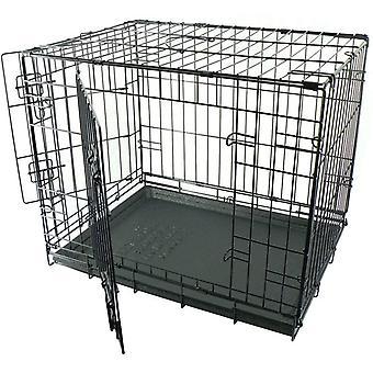 Dogit Wire Home 2 dvere - čierna - extra veľký (106.5x70x77cm)