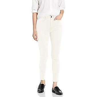 Brand - Daily Ritual Women's Sateen High-Rise Skinny Ankle Pant, Off-White 16