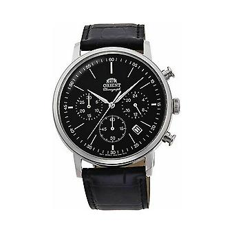 Cronógrafo de relógio masculino do Orient Classic RA-KV0404B10B