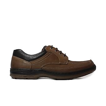 Anatomic Guruppi Brown Leather Mens Wide Fit Lace Up Shoes