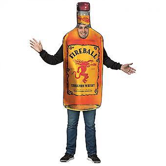 Costume de bouteille de boule de feu