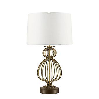 1 Lys bordlampe guld, E27