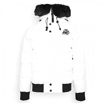 Kings Will Dream Branson White Fur Hooded Puffer Jacket