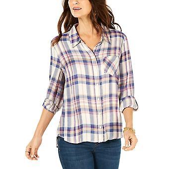 Stil og co | Plaid Roll-Tab Skjorte