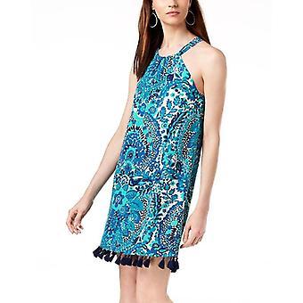 Trina Turk | Silk Tassel-Trim Shift Dress