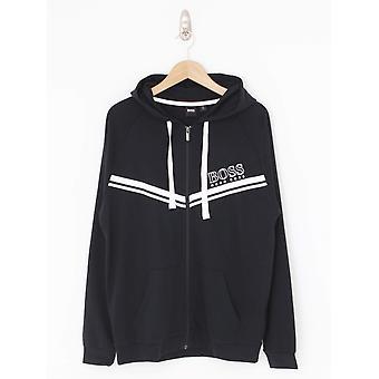 BOSS Loungewear Authentic Hooded Logo Jacket - Black