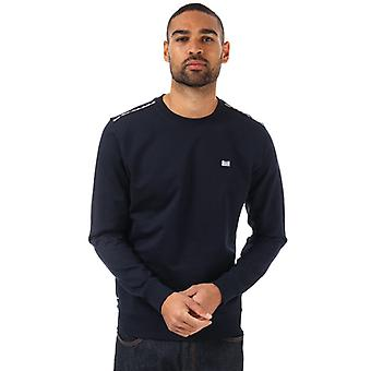 Men's Weekend Offender Dustin Check Crew Sweatshirt in Blue