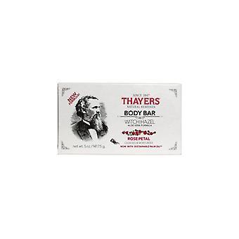 Thayers Body Bar Soap, Witch Hazel Rose Petal 5 Oz(Case of 3)