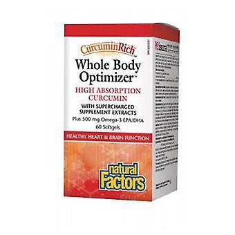 Natuurlijke factoren CurcuminRich Whole Body Curcumizer, 60 Softgels
