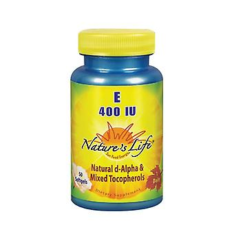 Nature's Life Vitamin E d-Alpha & Mixed Tocopherols, 400 IU, 50 softgels