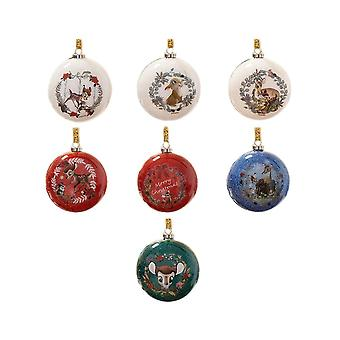 Disney Enchanted Forest Bambi Glitter Bauble Zestaw 7