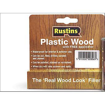 Rustins Plastic Hout Tube Teak