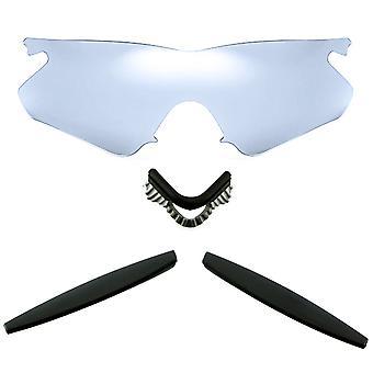 Polariserade ersättningslinser Kit för Oakley M Ramvärmare Silver Mirror Svart Anti-Scratch Anti-Glare UV400 SeekOptics