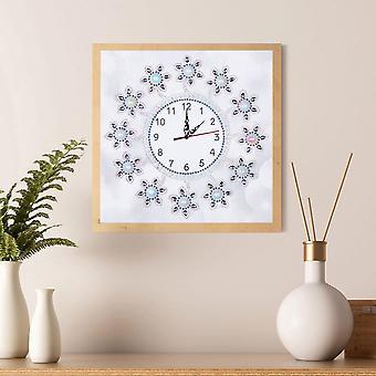 Diamond Painting Cross Clock Flower Butterfly Pattern Embroidery