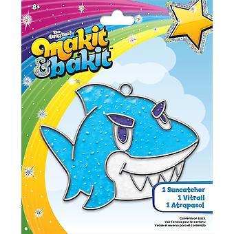 Colorbok tb-68607 makit and bakit suncatcher kit, shark